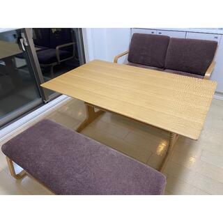 MUJI (無印良品) - 無印良品 リビングでもダイニングでもつかえる テーブル・ソファチェア