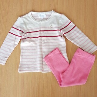 ハッカベビー(hakka baby)の美品 hakka baby セットアップ 70~80cm(カーディガン/ボレロ)