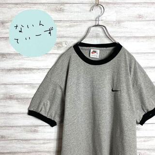 ナイキ(NIKE)の【USA製】90s ナイキ スウォッシュワンポイント刺繍ロゴ リンガーTシャツ(Tシャツ/カットソー(半袖/袖なし))