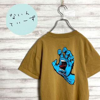 【入手困難】サンタクルーズ ベージュ ワンポイント バックプリント Tシャツ(Tシャツ/カットソー(半袖/袖なし))