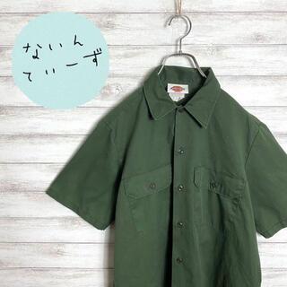 ディッキーズ(Dickies)の【アースカラー】90s ディッキーズ グリーン 半袖 ワークシャツ(シャツ)