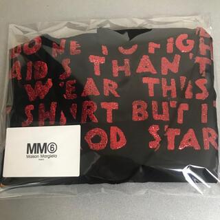 エムエムシックス(MM6)のAID Tシャツ ブラック MM6 マルジェラ(Tシャツ/カットソー(半袖/袖なし))
