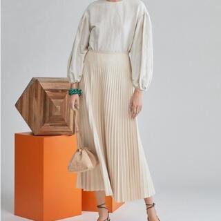 Mila Owen - ミラオーウェン フェイクレザープリーツマキシスカート