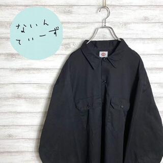 ディッキーズ(Dickies)の【入手困難】ディッキーズ ブラック ビックサイズ 長袖 ワークシャツ(シャツ)