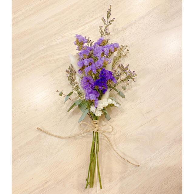 N1 くすみ色パープル系大人ドライフラワースワッグ*ブーケ*母の日 ハンドメイドのフラワー/ガーデン(ドライフラワー)の商品写真