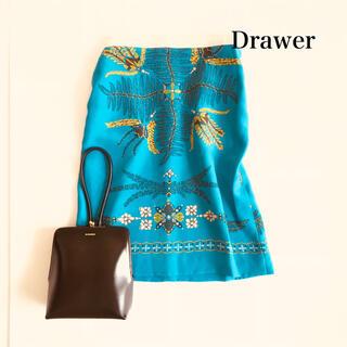 Drawer - ドゥロワー Drawer スカート シルク100 膝丈