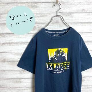 エクストララージ(XLARGE)の【入手困難】エクストララージ ゴリラロゴ デカロゴ ネイビー Tシャツ(Tシャツ/カットソー(半袖/袖なし))
