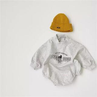 コドモビームス(こどもビームス)の新品未使用 ベビー ロンパース ロゴ 90 男の子 女の子(ロンパース)