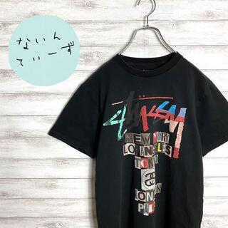 ステューシー(STUSSY)の【入手困難】ステューシー ブラック 両面プリント ロゴ Tシャツ(Tシャツ/カットソー(半袖/袖なし))