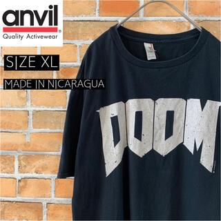 アンビル(Anvil)の【anvil】 DOOM Tシャツ XL アメリカ古着 ビッグロゴ ps4(Tシャツ/カットソー(半袖/袖なし))