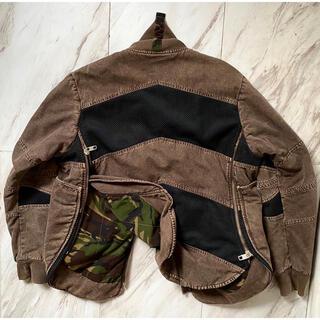 グリフィン(GRIFFIN)のvintage 90s 00s griffin 製品染め 変形 茶色 ジャケット(ミリタリージャケット)