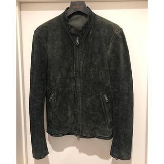 イサムカタヤマバックラッシュ(ISAMUKATAYAMA BACKLASH)の極美品バックラッシュ希少イタリーショルダースエード定価20.5万レザーライダース(ライダースジャケット)