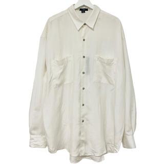 フランクリーダー(FRANK LEDER)の80's デッドストック phiz シャツ シルク ホワイト XL(シャツ)