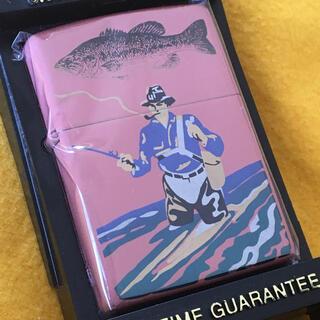 ジッポー(ZIPPO)のZIPPO B&S DESIGN 会津漆塗 フィッシャーマン 釣り人 ピンク新品(タバコグッズ)