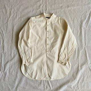 フランクリーダー(FRANK LEDER)のFRANK LEDER ノーカラーシャツ 長袖シャツ コットン(シャツ)