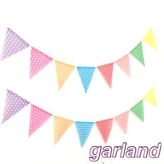 専用 パステルドットのガーランド2本(ガーランド)
