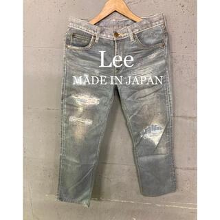 リー(Lee)の美品!Lee PREMIUM ORGANIC COTTON 転写パンツ!日本製!(デニム/ジーンズ)