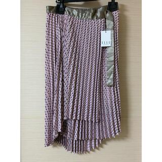 エル(ELLE)のプリーツラップスカート ELLE(ひざ丈スカート)