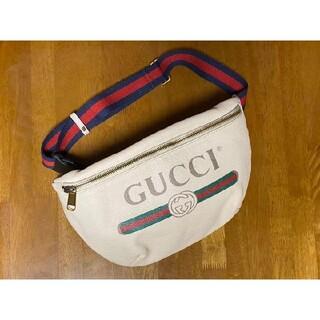 Gucci - Gucci ベルトバック ボディバッグ プリントロゴ 90サイズ