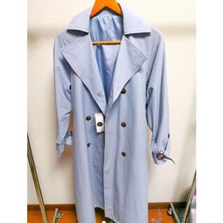 トレンチ コート 春 水色 オーバーサイズ ベルト 青 空 タグ 新品 未使用(トレンチコート)