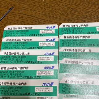 エーエヌエー(ゼンニッポンクウユ)(ANA(全日本空輸))のANA株主優待券 10枚(航空券)