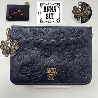 ANNA SUI - 未使用☺︎ANNA SUI アナスイ ダリア ブラック パスケース