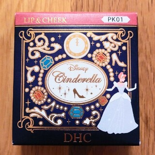 ディズニー(Disney)のDHC とろけるメルティ リップ&チーク シンデレラ リップ チーク 限定(口紅)