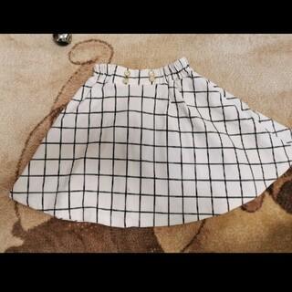 スカート ミニスカート 白 黒 チェック(スカート)