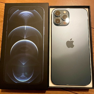 アイフォーン(iPhone)のiPhone12proMax 256GB ブルー appleストアー版 本体 (スマートフォン本体)
