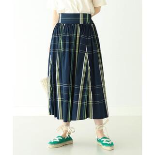 ビームスボーイ(BEAMS BOY)のBEAMS BOY ビッグ タータン チェック スカート ネイビー 20SS(ロングスカート)