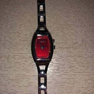 フォッシル(FOSSIL)のFOSSIL BIGTIC 腕時計 30M防水 90s レッド ハート(腕時計)