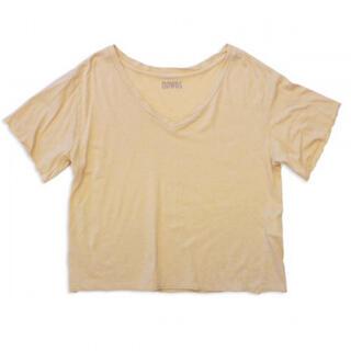 ファビアンルー(Fabiane Roux)のnowos コットンシルクTシャツ ベージュ(Tシャツ(半袖/袖なし))