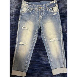 INGNI - 新品未使用☆ダメージジーンズ デニムパンツ ボーイズジーンズ Mサイズ ブルー