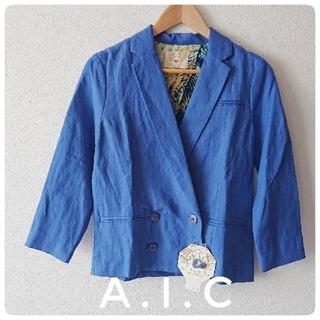エーアイシー(A・I・C)のA.I.C  ブルージャケット Mサイズ(テーラードジャケット)