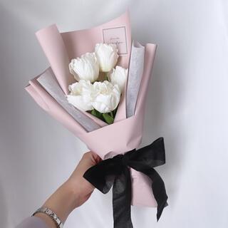ピンク系 チューリップ ラッピングブーケ 花束 ブーケ 母の日(ドライフラワー)