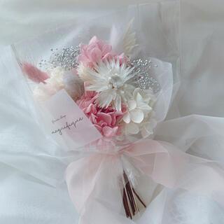 ピンクグレー系 ドライフラワー 花束 ブーケ スワッグ ギフト 母の日(ドライフラワー)