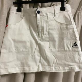 le coq sportif - ゴルフウェア スカート白 Lサイズ
