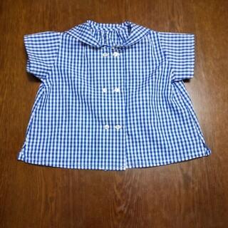 ここっち様専用セーラーカラーの半袖シャツ(ブラウス)
