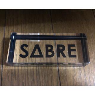 セイバー(SABRE)のSABRE(セイバー)ネームプレート クリア 非売品(サングラス/メガネ)