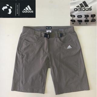 アディダス(adidas)のadidas アディダス アウトドア ショートパンツ グレー Lサイズ(登山用品)