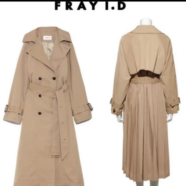 FRAY I.D(フレイアイディー)のFRAY.ID バックプリーツ トレンチコート 美香 レディースのジャケット/アウター(トレンチコート)の商品写真