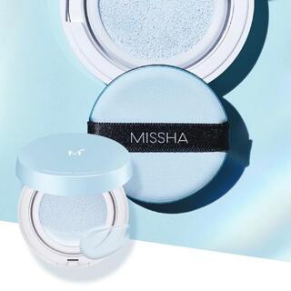 ミシャ(MISSHA)のミシャ M クッションベース ブルー 数量限定品(化粧下地)