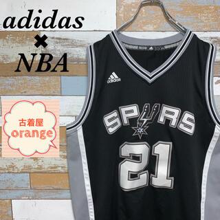 アディダス(adidas)の【激レア】adidas NBA ユニフォーム SPURS ダンカン タンクトップ(タンクトップ)