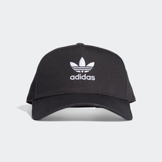 adidas - adidas キャップ トレフォイルロゴ ブラック 黒 アディダス