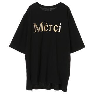デュラス(DURAS)のデュラス MerciビッグTシャツ(Tシャツ(半袖/袖なし))