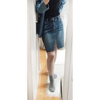 デイシー(deicy)のdeicy デニムひざ丈スカート オルテガ刺繍(ひざ丈スカート)
