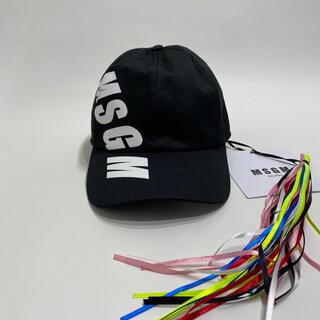 MSGM - 新品 MSGM エムエスジーエム ロゴ キャップ ブラック レディース メンズ