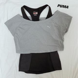 プーマ(PUMA)のPUMA プーマ トレンドトップ タンクトップ&Tシャツセット M(タンクトップ)