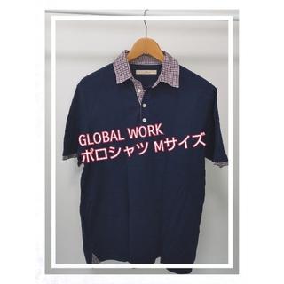 グローバルワーク(GLOBAL WORK)のP04 GLOBAL WORK、ポロシャツ、Mサイズ(ポロシャツ)