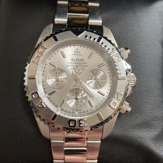 エルジン(ELGIN)のELGIN エルジン 腕時計 クロノグラフ メンズ シルバー (腕時計(アナログ))